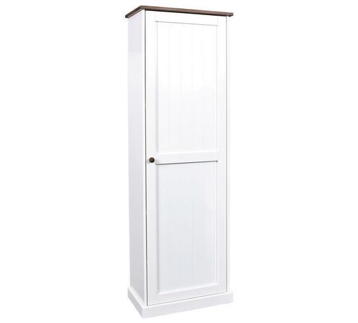 SCHUHSCHRANK Kiefer massiv lackiert Braun, Weiß  - Weiß/Braun, LIFESTYLE, Holz (64/192/37,5cm) - Carryhome