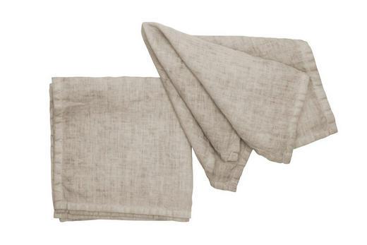 SERVIETTE  Textil  Sandfarben  40/40 cm - Sandfarben, Basics, Textil (40/40cm)