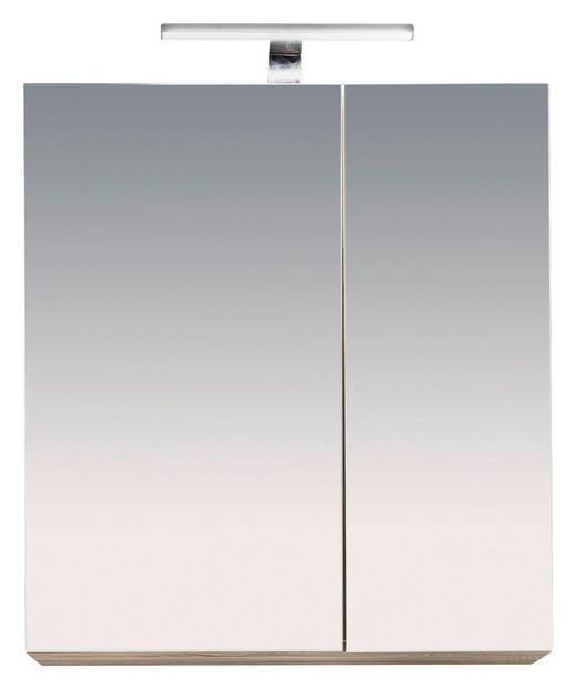 SPIEGELSCHRANK Eichefarben - Eichefarben, Design, Glas/Holzwerkstoff (65/70/21cm) - Xora