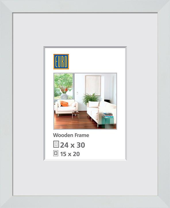 RÁM NA OBRAZY - bílá, Basics, dřevo/sklo (24/30/3cm)
