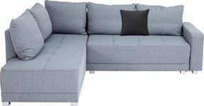 WOHNLANDSCHAFT in Textil Hellgrau - Silberfarben/Hellgrau, Design, Kunststoff/Textil (207/243cm) - Xora