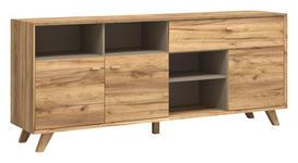 SIDEBOARD melaminharzbeschichtet Eichefarben - Eichefarben, Design, Holz/Holzwerkstoff (187/79/41cm) - Linea Natura
