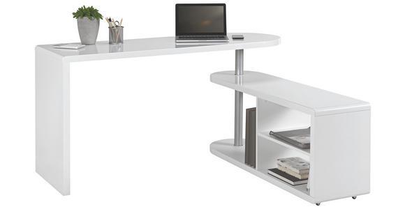 SCHREIBTISCHKOMBINATION - Weiß, Design, Holzwerkstoff (145/74,7/50cm) - Hom`in
