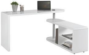 SKRIVBORDSKOMBINATION - vit, Design, träbaserade material (145/74,7/50cm) - Hom`in