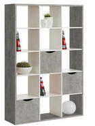 RAUMTEILER Grau, Weiß - Weiß/Grau, Design (110/181/34cm) - CARRYHOME