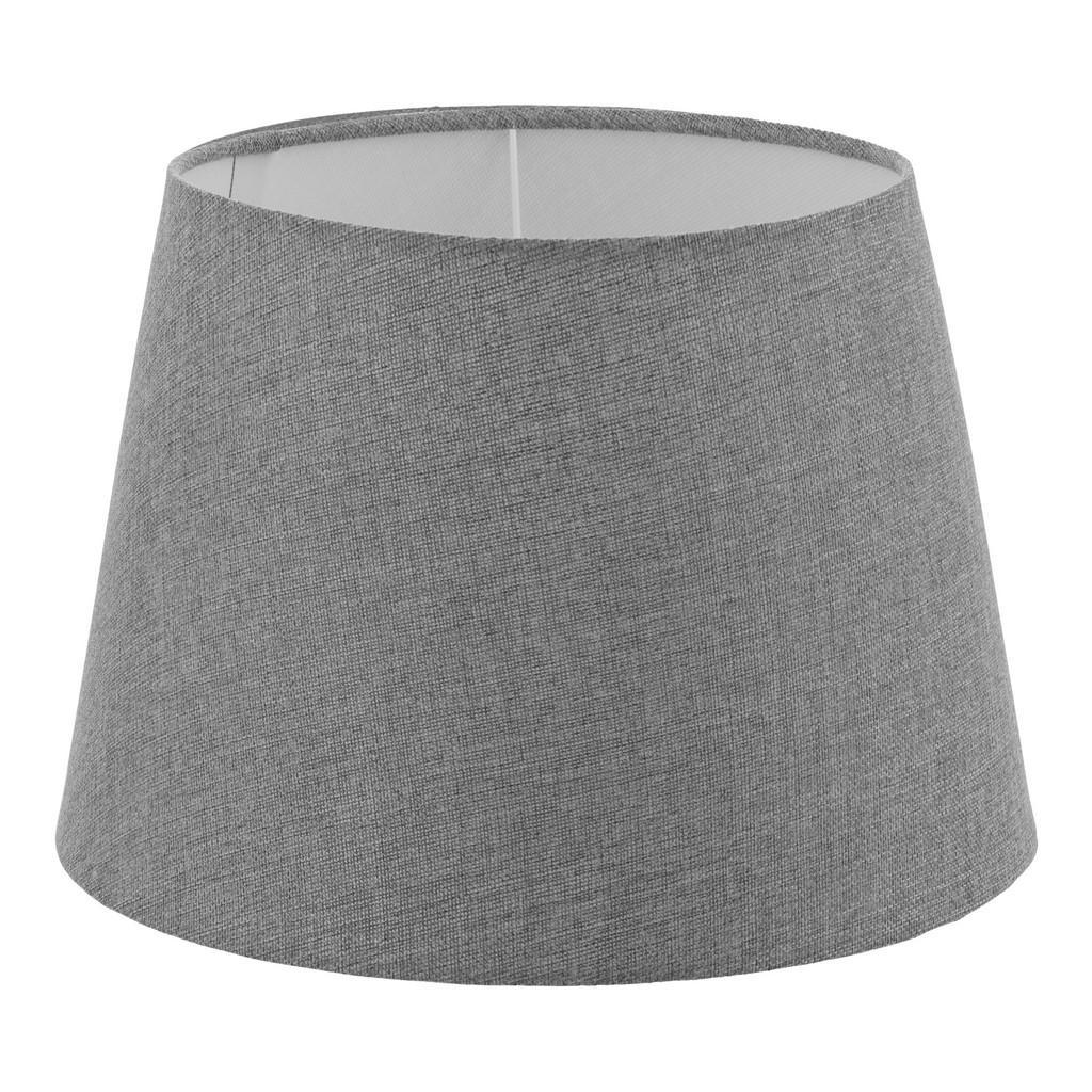 XXXLutz Leuchtenschirm grau textil e14