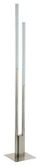 LED STOJACÍ LAMPA - bílá/barvy niklu, Design, kov/umělá hmota (175,5cm)