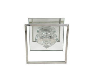 VÄRMELJUSHÅLLARE - klar, Basics, glas (10/6,5/10cm) - Ambia Home
