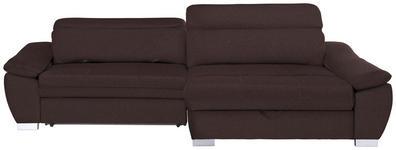WOHNLANDSCHAFT in Textil Braun  - Silberfarben/Braun, MODERN, Kunststoff/Textil (270/175cm) - Carryhome