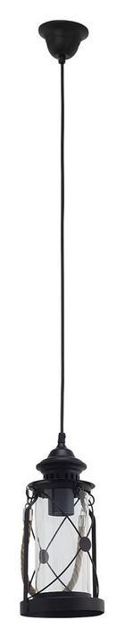 HÄNGELEUCHTE - Schwarz, LIFESTYLE, Glas/Metall (14/110cm) - MARAMA