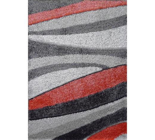 HOCHFLORTEPPICH - Rot/Grau, KONVENTIONELL, Textil (80/150cm) - Novel