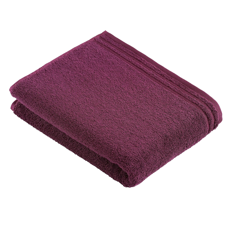 BADETUCH 100/150 cm - Bordeaux, Basics, Textil (100/150cm) - VOSSEN