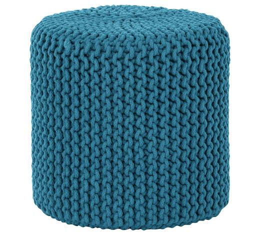 POUF in Textil - Petrol, Trend, Textil (44/44cm) - Carryhome
