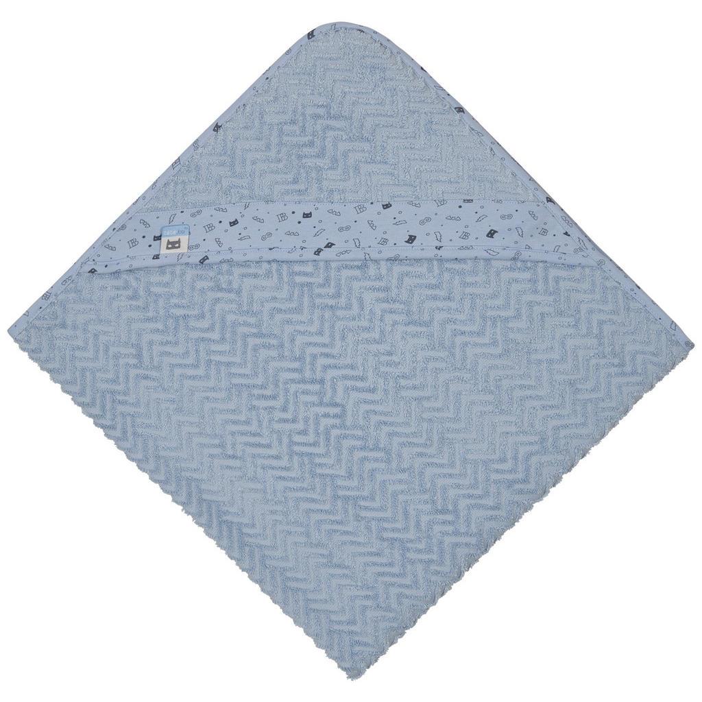 Image of Bebe Jou Kapuzenbadetuch 85/75 cm , 3010057 , Blau , Textil , 85x75 cm , saugfähig, angenehm weich, hochwertige Qualität, schnelltrocknend, schadstoffgeprüft , 008296010512