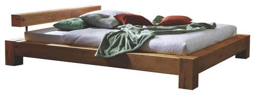 BALKENBETT Wildeiche massiv 160/200 cm - Eichefarben/Naturfarben, Design, Holz (160/200cm) - Hasena
