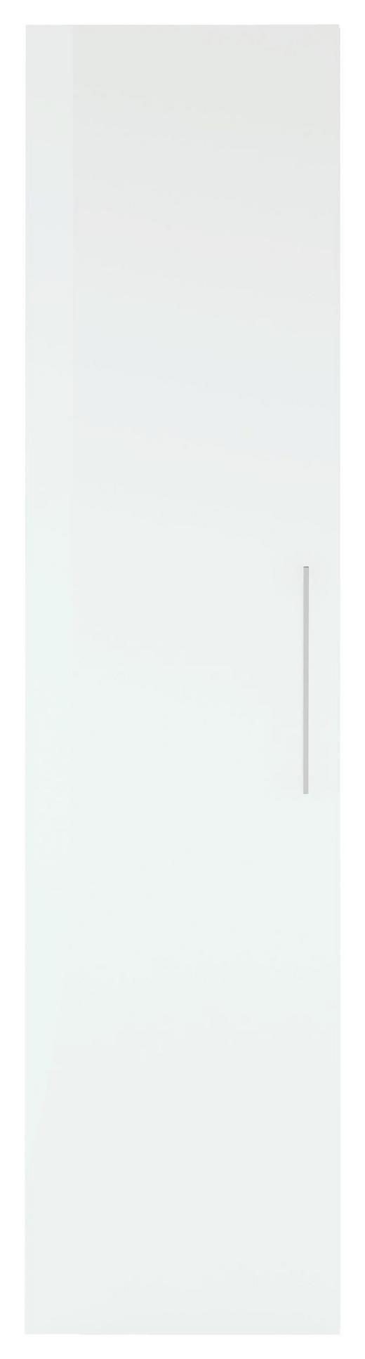 DREHTÜRENSCHRANK 1-türig Weiß - Chromfarben/Weiß, Design, Holzwerkstoff/Metall (50/208/57cm) - Carryhome