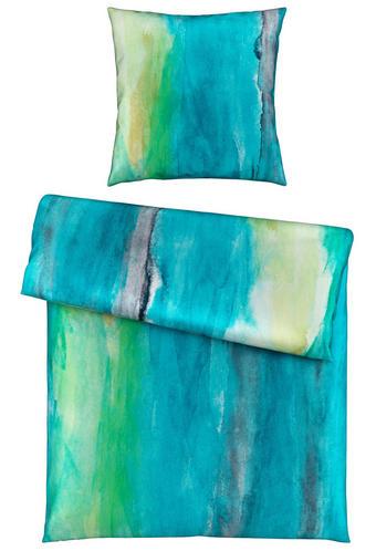 BETTWÄSCHE Satin Türkis 135/200 cm - Türkis, Design, Textil (135/200cm) - Novel