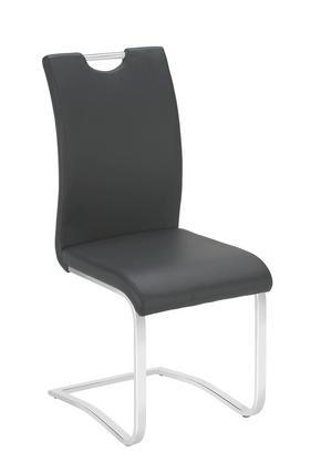 SVIKTSTOL - kromfärg/svart, Design, metall/textil (42/102/55cm) - Carryhome
