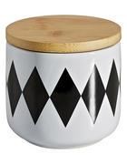 DÓZA NA POTRAVINY - bílá/černá, Lifestyle, dřevo/keramika (10/8cm) - Landscape