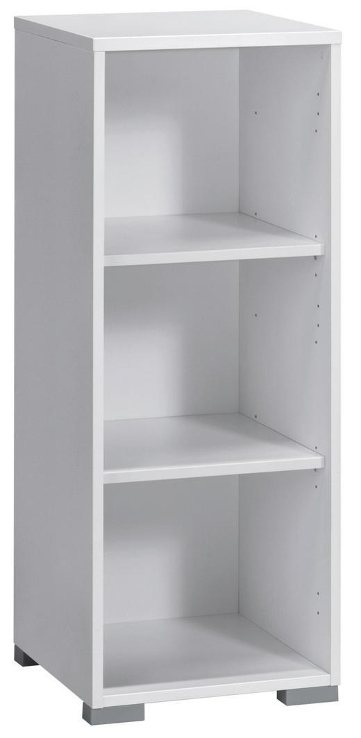 AKTENREGAL Weiß - Silberfarben/Weiß, Design, Holzwerkstoff/Kunststoff (42,1/109,7/40cm)