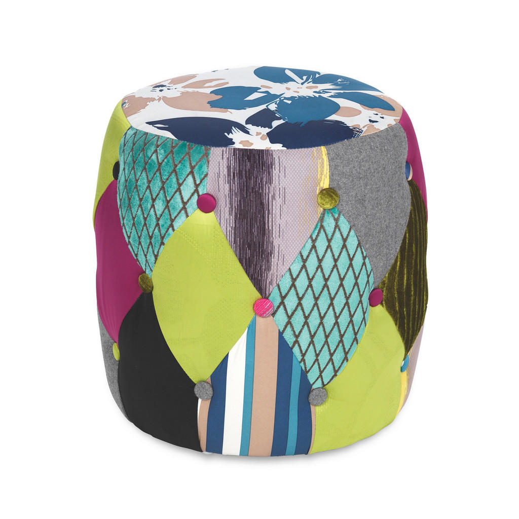 Carryhome POUF Patchwork Mehrfarbig