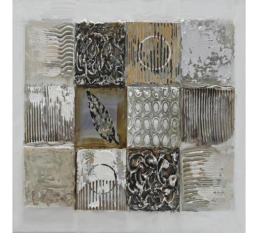 BILD - Silberfarben/Braun, Design, Holz/Textil (55/55cm) - Monee
