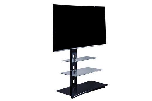 TV-ELEMENT 86/120/40 cm - Schwarz, Design, Glas/Metall (86/120/40cm)