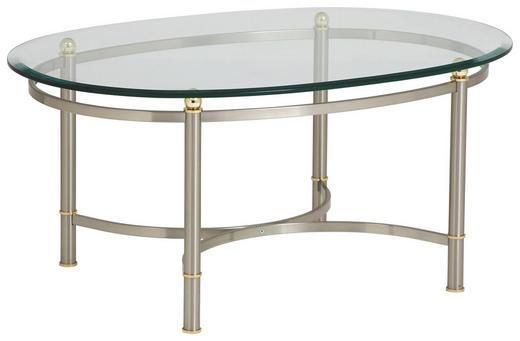 COUCHTISCH in Glas, Metall 100/69/45 cm - Nickelfarben, LIFESTYLE, Glas/Metall (100/69/45cm)