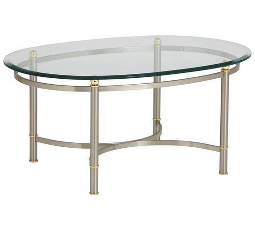 COUCHTISCH in Metall, Glas 100/69/45 cm - Nickelfarben, LIFESTYLE, Glas/Metall (100/69/45cm)