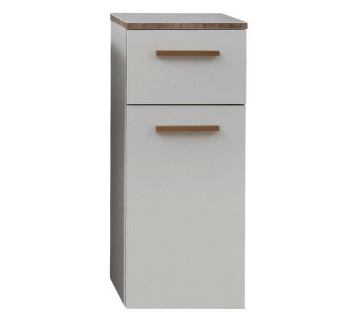 UNTERSCHRANK Weiß  - Eichefarben/Weiß, KONVENTIONELL, Holz/Holzwerkstoff (30/72/33cm) - Xora
