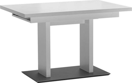 ESSTISCH rechteckig Edelstahlfarben, Weiß - Edelstahlfarben/Weiß, Design, Metall (120(168)/80/75cm) - Dieter Knoll