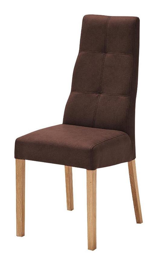 STUHL Lederlook Braun - Buchefarben/Braun, Design, Holz/Textil (43/104/58cm) - Carryhome