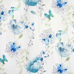 VORHANGSTOFF per lfm blickdicht - Blau/Mintgrün, KONVENTIONELL, Textil (150cm) - Esposa