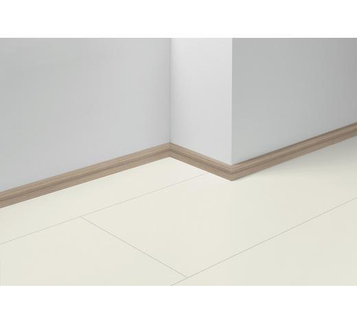 SOCKELLEISTE Weiß, Pinienfarben, Hellbraun - Hellbraun/Weiß, Basics, Holzwerkstoff (257/1,6/4cm) - Parador