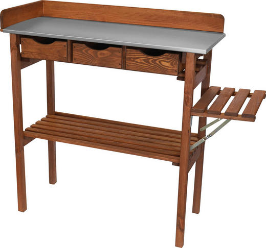 PFLANZTISCH - Braun, Basics, Holz (90/90/40cm)
