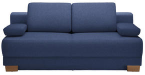 SCHLAFSOFA in Textil Blau  - Blau/Eichefarben, Design, Holz/Textil (200/93/102cm) - Novel