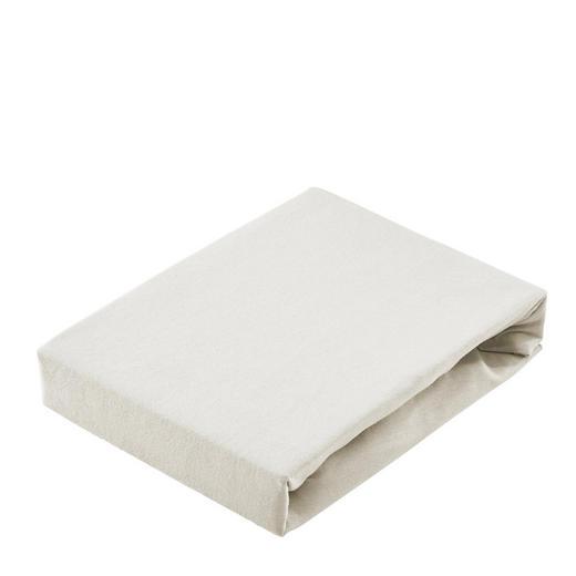 SPANNBETTTUCH Jersey Weiß - Weiß, Basics, Textil (200/200cm) - Bio:Vio