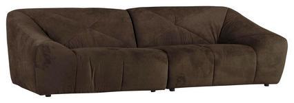 MEGASOFA in Textil Braun  - Schwarz/Braun, Design, Textil (250/75/105cm) - Xora