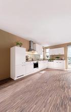 ROHOVÁ KUCHYŇ - magnólie, Design, dřevěný materiál (395/225cm) - Celina