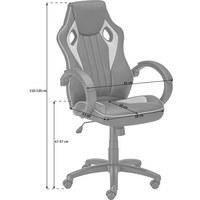 GAMINGSTUHL - Schwarz/Grün, Design, Kunststoff/Textil (61/110-120/63cm) - Carryhome