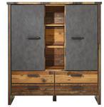 HIGHBOARD Grau, Pinienfarben  - Anthrazit/Grau, KONVENTIONELL, Holzwerkstoff/Kunststoff (139/152/42cm) - Hom`in