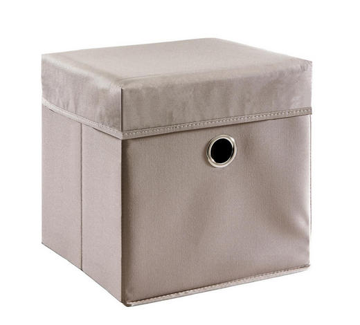BOX NA HRAČKY - šedohnědá, Trend, dřevo/textilie (32/32/32cm) - My Baby Lou