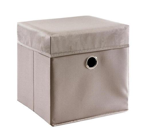 BOX NA HRAČKY - šedohnědá, Trend, kompozitní dřevo/textil (32/32/32cm) - My Baby Lou