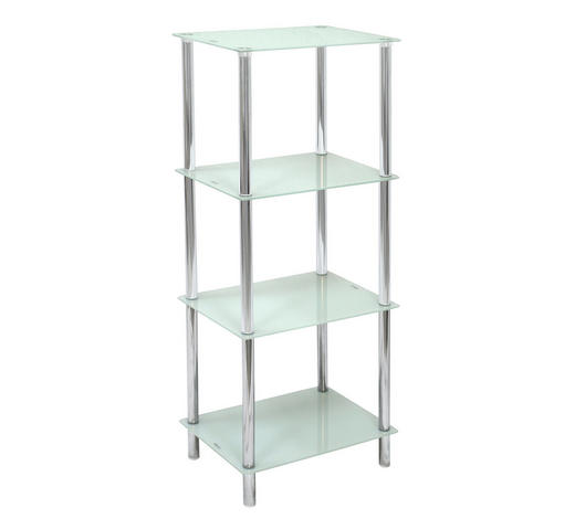 Badezimmerregal Glas Metall Chromfarben Weiss Online Kaufen Xxxlutz