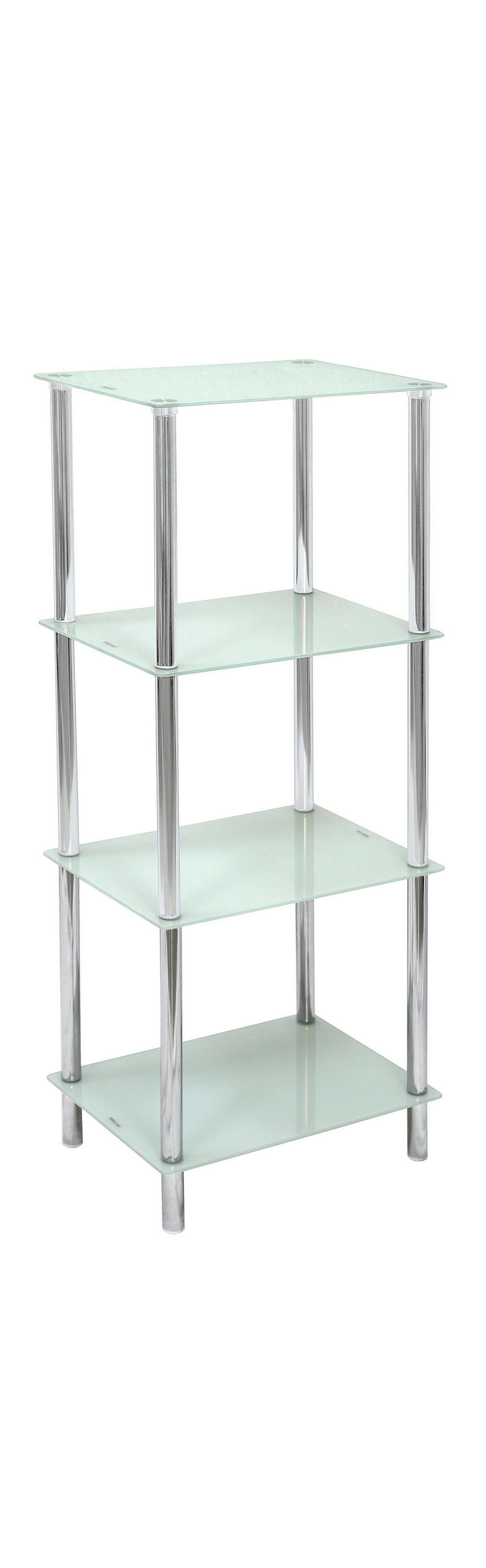Badezimmer Regal Glas Chrom