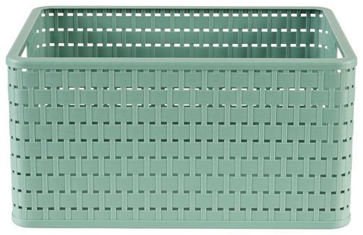 KORB - Grün, Basics, Kunststoff (36,8/27,8/19,1cm)