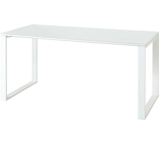 SCHREIBTISCH Weiß  - Weiß, MODERN, Glas/Metall (160/75/80cm) - Novel