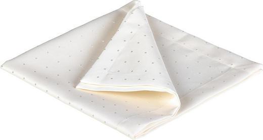 Serviette 2er Pack Textil Weiß 50/50 cm - Weiß, Textil (50/50cm)