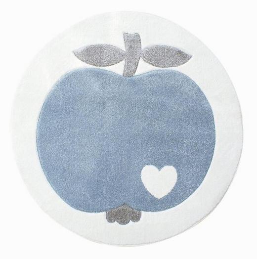 KINDERTEPPICH   Blau, Weiß - Blau/Weiß, Basics, Textil (133cm)