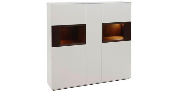 HIGHBOARD 150/145,3/37,1 cm  - Nussbaumfarben/Weiß, Design, Holz/Holzwerkstoff (150/145,3/37,1cm) - Dieter Knoll